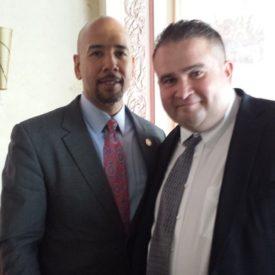 Mark with Bronx borough President Ruben Diaz Jr.