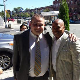 Statman with Brooklyn Borough President Eric Adams